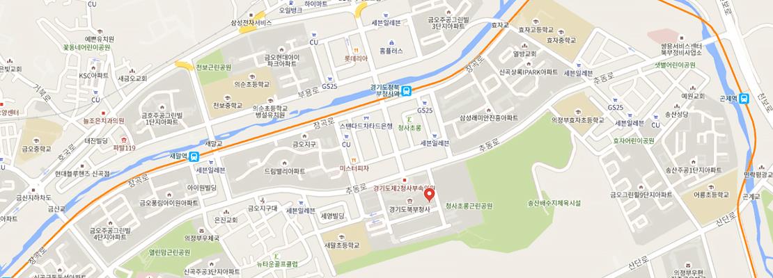 경기평화광장 지도